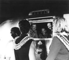 Apollo Anniversary - Apollo 11 astronauts being visited by their wives during the 21-day quarantine period. Credit: NASA