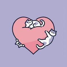 Cute Animal Drawings, Kawaii Drawings, Graphic Design Illustration, Illustration Art, Illustrations, Arte Do Kawaii, Cute Doodles, Cat Drawing, Cute Icons
