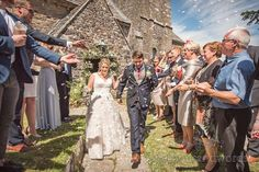 Bride and groom are showered with confetti and they leave village church in Dorset Church Ceremony, Wedding Ceremony, Wedding Venues, Marquee Wedding, Wedding Car, Wedding Bubbles, Wedding Breakfast, Wedding Confetti, Father Of The Bride