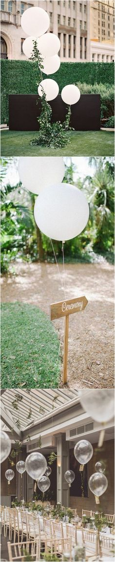 chic balloon wedding ideas for reception