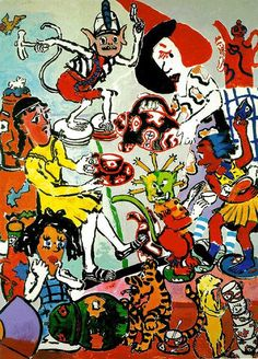 Paula Rego, the Vivian girls with the china, 1984 Magnum Opus, Gustav Klimt, Cherub, Cute Baby Animals, Figurative Art, Painting & Drawing, Fantasy Art, Sculptures, Artsy