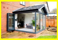 Our Modern Conservatory Extension- Before and After (Home Renovation Project - Mummy Dadd. Our Modern Conservatory Extension- Before and After (Home Renovation Project - Mummy Daddy Me House Extension Design, Glass Extension, Rear Extension, Patio Extension Ideas, Garage Extension, Orangerie Extension, Conservatory Extension, Garden Room Extensions, House Extensions