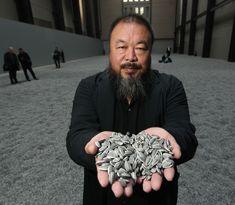 Ai Weiwei installation at Tate Modern. 100 million hand painted sunflower seeds… Ai Weiwei installation at Tate Modern. 100 million hand painted sunflower seeds. Ai Weiwei, In China, Contemporary Artists, Modern Art, Art Conceptual, Wei Wei, Jasper Johns, Political Art, Portraits