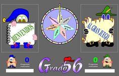 """""""Grado 56"""" es un juego ya clásico en que dos equipos compiten por mostrar los aprendizajes propios del Tercer Ciclo de Educación Primaria en las diversas áreas del currículo. Una ruleta decide de qué área se pregunta y hay que alcanzar 56 puntos para ganar, es decir los """"56 grados"""". Aunque está concebido para jugar en equipo se puede competir igualmente con dos jugadores individuales. Online Gratis, Map, Education, Html, Ideas, Strategy Games, Math Games, Interactive Activities, Educational Activities"""