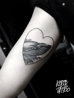 Whale Tattoo by Violet Kefir, St Petersbourg
