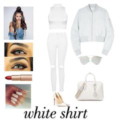 """All White"" by dorsaf-malinsky ❤ liked on Polyvore featuring Christian Louboutin, WearAll, Topshop, Christian Dior, MCM, Won Hundred, Charlotte Tilbury and WardrobeStaples"