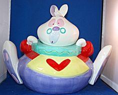 White Rabbit from Alice in Wonderland Cookie Jar