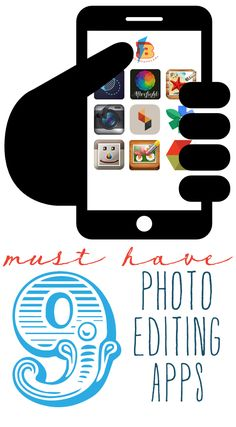 9 Must Have Photo Editing Apps for iPhone and Android, BTW Download cool app(s) here: http://www.imobileappsys.com/promote/tryapps.php?id=pinterest