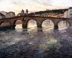 "FRITS #THAULOW ""El río Adigio en Verona "" (c. 1894) #verona #Art #arte #twitart #painting #rio #artwit #bridge pic.twitter.com/lMD1rvR77e"