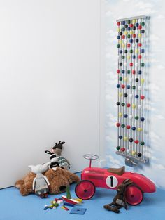 The Aeon Abacus Stainless Steel Radiator is a vibrant, colourful design. It is perfect for children's rooms, or a fun piece in any room. Stainless Steel Radiators, Magazine Deco, Column Radiators, Designer Radiator, Boutique Deco, Deco Design, Deco Table, Hobbies And Crafts, Traditional Design