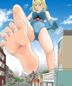 103865   anime city color destruction drawing feet giantess low angle