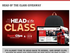 """Enter The Sport Clips """"HEAD OF THE CLASS"""" Sweepstakes for a chance to win a…"""
