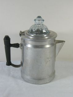 Vintage et Aluminum Percolator Coffee Pot Maker Stove Top Camping
