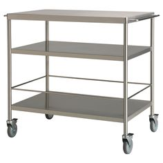 "FLYTTA Kitchen cart - 38 5/8x22 1/2 "" - IKEA  $159 Gives you extra storage, utility and work space. Lockable casters for high stability."