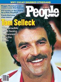 Look at da mustache! People Magazine, Life Magazine, Tom Selleck, Jesse Stone, The Rockford Files, Hollywood Story, Michael Bolton, Popular Magazine, Seventeen Magazine