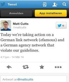 Das Linknetzwerk von efamous und ein weiteres Agentur-Netzwerk sind ins Netzwerk der Google Spam-Fahnder geraten.