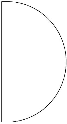 template for cone party hat - or popcorn cone