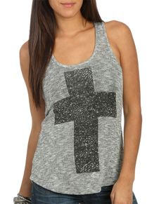 Lurex Hachi Cross Tank | Shop Just Arrived at Wet Seal