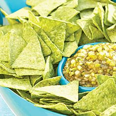 Triple Green Spicy Dip and Chips