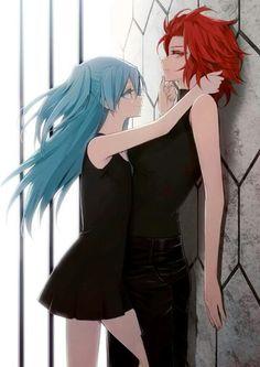 Akuma no riddle / Yuri Yuri Anime, Anime Manga, Anime Art, Anime Couples, Cute Couples, Riddle Story Of Devil, Akuma No Riddle, Girl Couple, Set Me Free