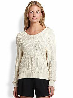 Ralph Lauren Black Label Silk Open-Neck Sweater