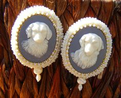 The Goldens Bead Embroidered Earrings by LisaPierceJewelry on Etsy, $85.00