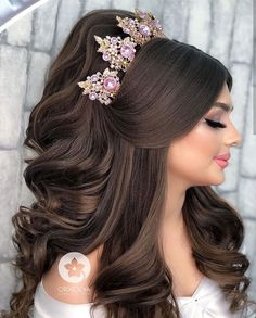 Quince Hairstyles, Bride Hairstyles, Cool Hairstyles, Bridal Hair Buns, Bridal Hair And Makeup, Hair Makeup, Classic Wedding Hair, Hair Up Styles, Quinceanera Hairstyles