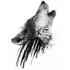 i want to get this wolf tattooed somewhere on my shoulder and below it i want my…