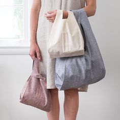 """Stowe Bag"" sewing pattern by Fringe Association and Grainline Studio."