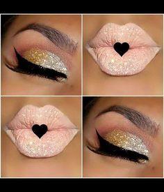 Cut crease makeup and glitter | Kelsey R.'s Photo | Beautylish