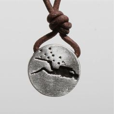 Scuba Diving Diver Pendant Pewter and Leather Necklace Now 40% off by zulasurfing on Etsy