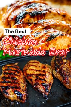 The Best Chicken Marinade Recipe ever makes chicken extra juicy and flavorful This easy savory marinade makes grilled chicken mouthwatering and keeps the chicken incredibly moist and outrageously delicious try it today Grilled Chicken Breast Recipes, Chicken Marinade Recipes, Grilled Meat, Easy Chicken Recipes, Grilling Recipes, Cooking Recipes, Chicken Back Recipe, Keto Chicken, Rotisserie Chicken
