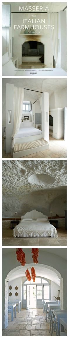 Masseria: The Italian Farmhouses of Puglia. Wonderful places to spend some regenerating time.