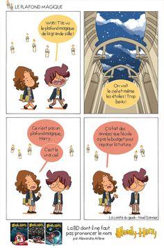 Harry Potter Animé, Harry Potter Parody, A Funny, Funny Comics, Geek Stuff, Lol, Memes, French, Harry Potter Stuff