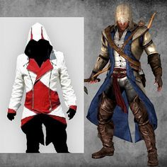 Assassins Creed 3 III Conner Kenway Hoodie 5 Colors Coat Jacket