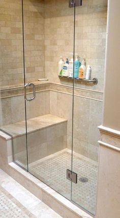 Modern Small Bathroom Remodel Design Ideas 28 #smallbathroomremodeling Bathroom Showers, Bathroom Shower Remodel, Shower Towel, Tiled Showers, Master Shower, Shower Bathroom, Master Bath Remodel, 1950s Bathroom, Shower Designs