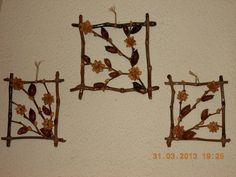 Decor with branches and pistachio shells,by me, MM