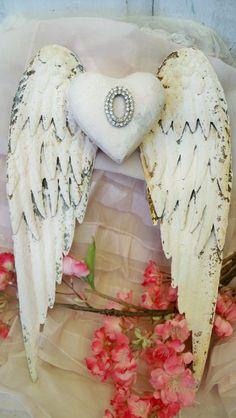 White wings rusty metal with rhinestone by AnitaSperoDesign, $120.00