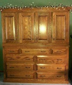 Beautiful Handmade Dresser....we don't want to paint on this!