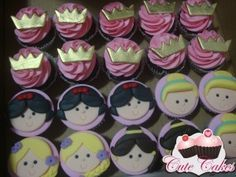 Mini cupcakes Princesas Disney Anne