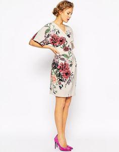 Closet | Closet Obi Wrap Dress With Kimono Sleeve at ASOS