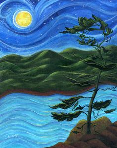 Starry Night at Algonquin Park Original Painting by Catherine Howard