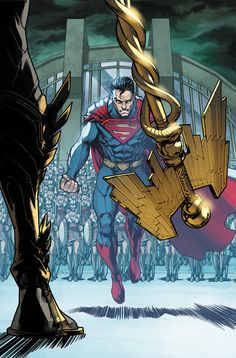 Injustice: Gods Among Us Year Four #6 by Neil GoogeINJUSTICE: GODS AMONG US YEAR FOUR #6Written by BRIAN BUCCELLATO Art by MIKE S. MILLER Cover by NEIL GOOGEOn sale JULY 22 • 32 pg, FC, $2.99 US • RATED T • DIGITAL FIRSTThe Gods now directly enter the fray and order Superman to step down. But Superman simply going into retreat is not something Batman thinks is a good idea, knowing from experience that he'll regroup and return. Meanwhile, Wonder Woman has been ordered to leave Superman's…