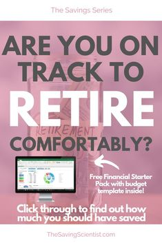 With saving money, have you ever wondered how much you should have stashed away by a certain age? Well, this guideline can help you! Preparing For Retirement, Retirement Planning, Pay Yourself First, Financial Success, Financial Planning, Investing Money, Money Saving Tips, Money Tips, Budgeting Tips