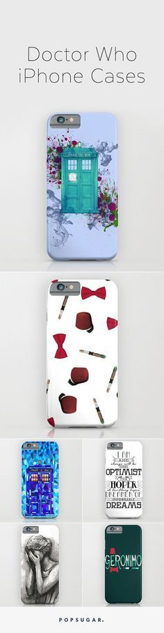 iPhone cases for serious Doctor Who fans.