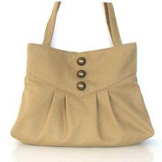Vegan Purse Handbag , Khaki  handmade women day bag on Etsy, $63.00