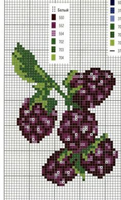 Blackberries, Gooseberries, Blackberry, Gooseberry, Black Goose Berry Berries, fruit, pixel art, cross stitch pattern Cross Stitch Fruit, Cross Stitch Kitchen, Beaded Cross Stitch, Cross Stitch Rose, Cross Stitch Flowers, Cross Stitch Embroidery, Modern Cross Stitch Patterns, Cross Patterns, Counted Cross Stitch Patterns