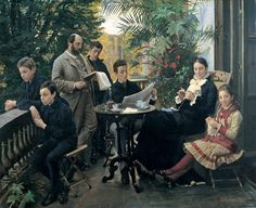 P.S. Krøyer. The Hirschsprung family portrait. 1881 Den Hirschsprungske Samling __________________ ілюстрація того, як члени сім'ї ігнорували один одного до винаходу вай-фаю