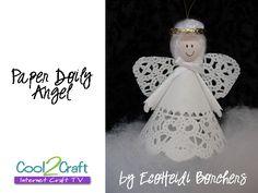 Paper Doily Angel by EcoHeidi Borchers