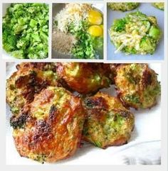 Cheesy Broccoli Bites 16 oz. package of frozen chopped broccoli, or uncooked works ok too 1 1/2 cup of grated cheddar cheese 3 eggs salt and pepper 1 cup bread crumbs (Gluten free)